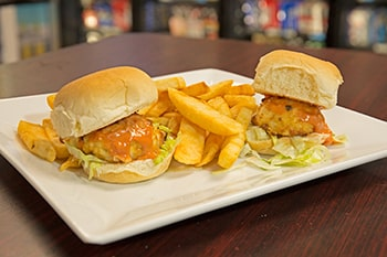 Mini Crab Cake Sandwiches with Fries