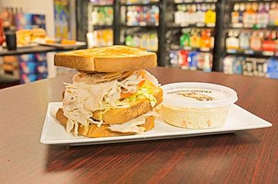 Turkey Sub Sandwich with Coldslaw