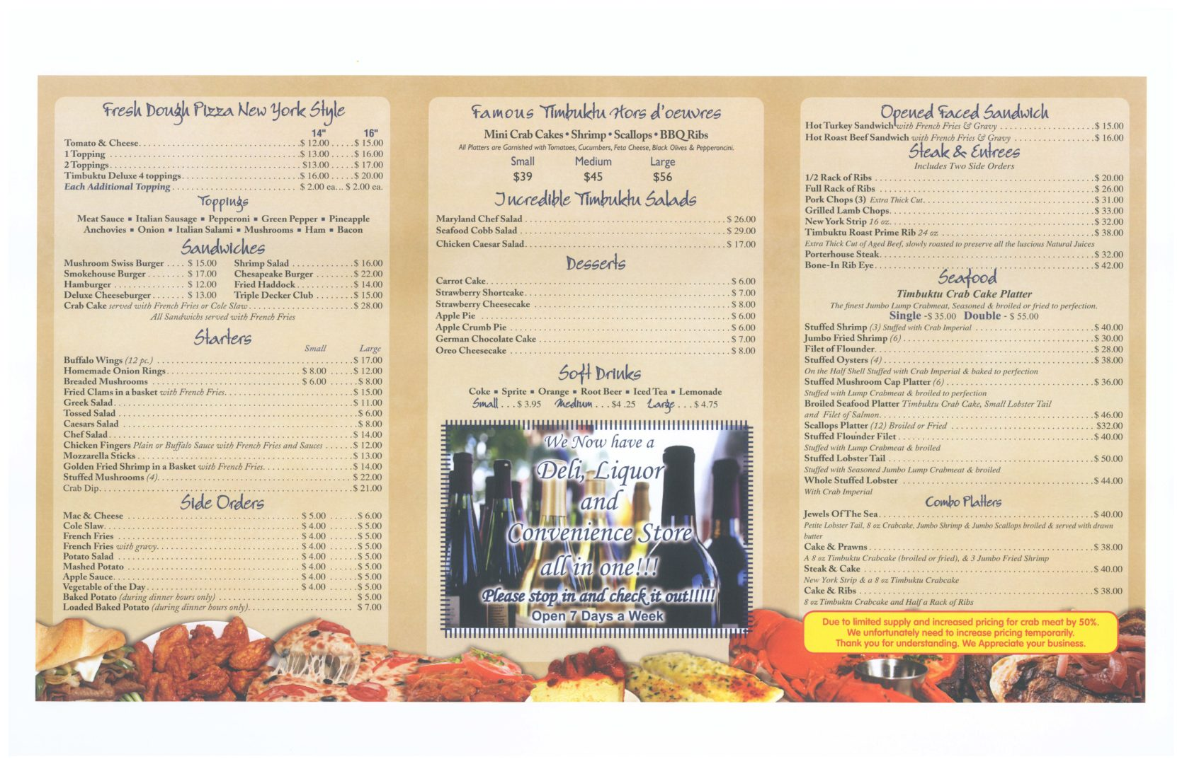 Carry Out Menu page 2